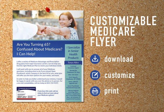 Turning 65 Customizable Flyer