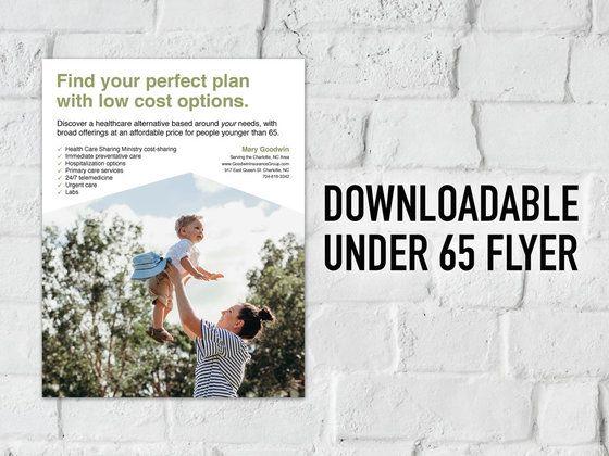 Downloadable Under 65 Flyer