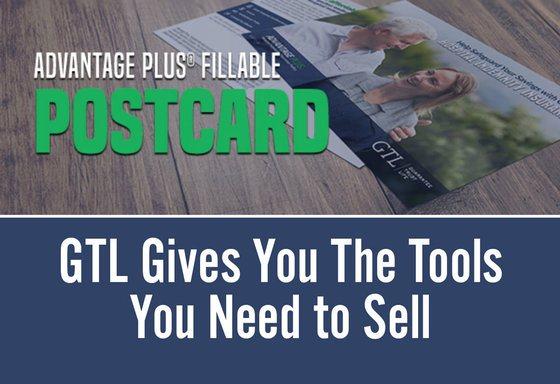 Advantage Plus Fillable Postcard