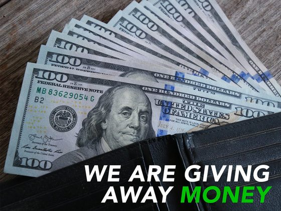 We Are Giving Away Money