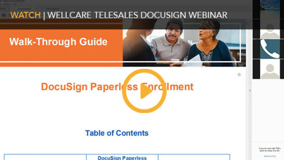 WellCare Telesales DocuSign Webinar
